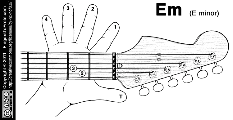 Fingers to Frets: Visual Guitar Chord Charts, for Lefties